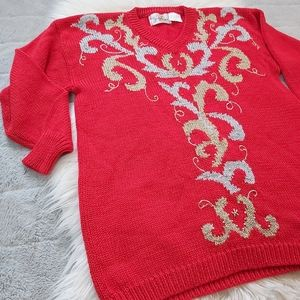 Vintage Jaclyn Smith Christmas Style Sweater 80's